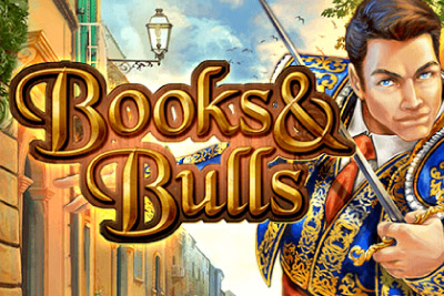 Books & Bulls Mobile Slot Logo