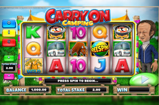 Carry On Camping Mobile Slot Machine