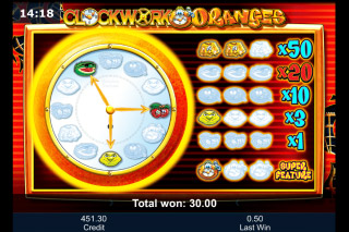 Clockwork Oranges Mobile Slot Bonus Game