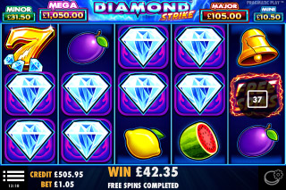Diamond Strike Mobile Slot Free Spins