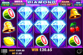 Diamond Strike Mobile Slot Win