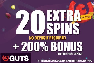Exclusive GUTS Mobile Casino Bonus With Extra Spins