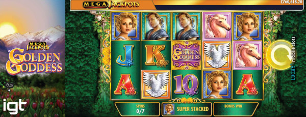 Golden Goddess MegaJackpots Slot Free Spins With Super Stacked Reels