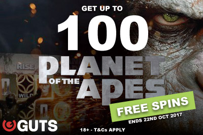 Get Your Guts Casino Free Spins On Planet Of The Apes