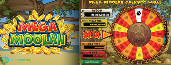 Mega Moolah Slot Jackpot Wheel Example
