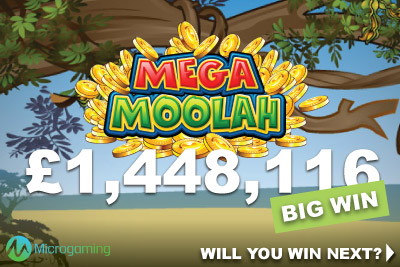 Microgaming Mega Moolah UK Casino Big Win