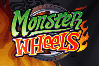 Monster Wheels Mobile Slot Logo