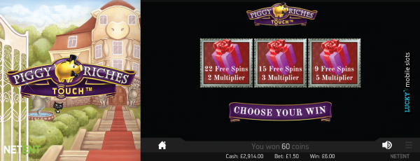 NetEnt Piggy Riches Slot Free Spins With Multipliers Pick