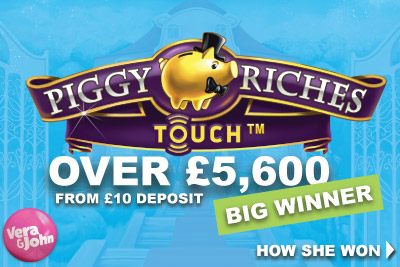 Piggy Riches Slot Pays Out Over £5,600 To Vera John Slots Player