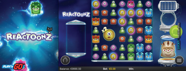 Play'n GO Reactoonz Mobile Slot Machine