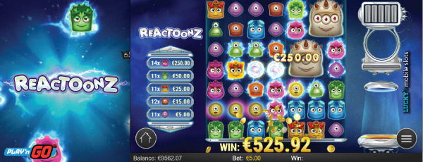 Reactoonz Gargagatoon Slot Bonus Feature