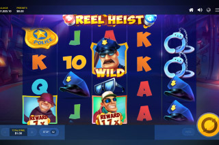 Reel Heist Mobile Slot Wilds