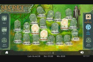Secret Of The Stones Mobile Slot Bonus Game