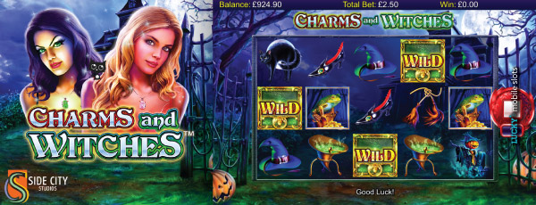 Side City Studios Charms and Witches Slot Machine