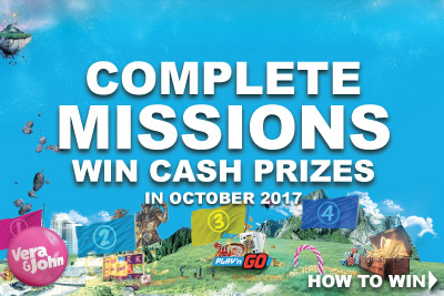 Win Cash At Vera John Mobile Casino In October 2017