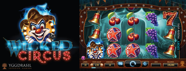 Yggdrasil Wicked Circus Slot Machine
