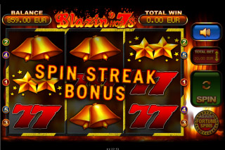 Blazin Hot 7s Mobile Slot Streak Bonus