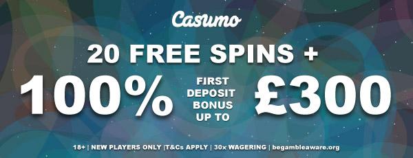 Your UK Casumo Bonus In All Its Glory