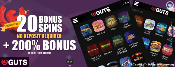 Your Guts No Deposit Mobile Casino Bonus & More