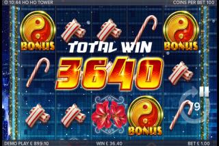 Ho Ho Tower Mobile Slot Bonus Win
