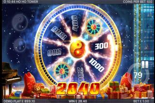 Ho Ho Tower Mobile Slot Wheel Bonus