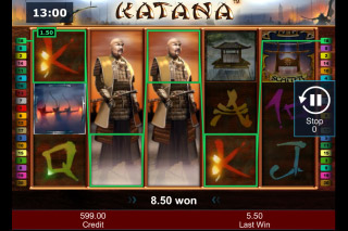 Katana Mobile Slot Expanding Wilds