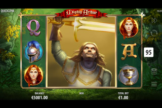 Mighty Arthur Mobile Slot Big Symbol Win