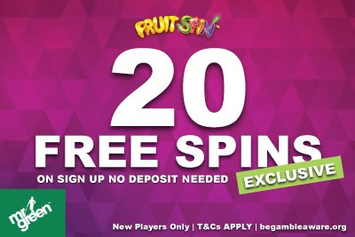 Get Your Exclusive Mr Green Free Spins Bonus On Sign Up