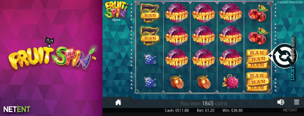NetEntertainment Fruit Spin Mobile Slot With Scatters