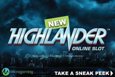 New Highlander Online Slot Coming December 2017