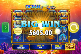 Ocean Magic Mobile Slot Big Win