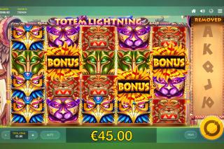 Totem Lightning Slot Bonus Win