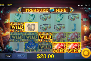Treasure Mine Mobile Slot Wild Win