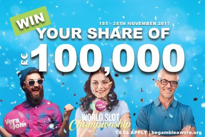 Win Your Share Of 100K Playing Vera John Slots Tournaments