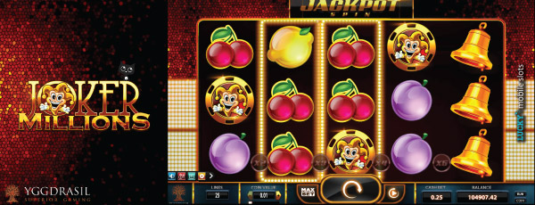 Yggdrasil Joker Millions Slot Machine Jackpot Spin