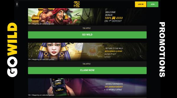 Go Wild Casino Promotions