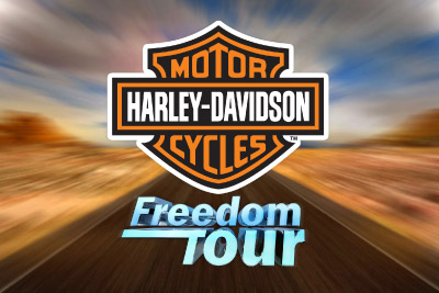 Harley Davidson Freedom Tour Mobile Slot Logo
