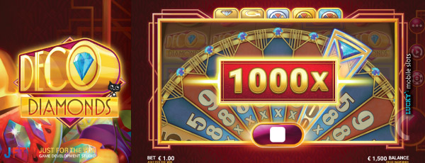 JFTW Deco Diamonds Slot Feature Win of 1000X Your Bet