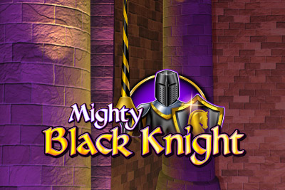Mighty Black Knight Mobile Slot Logo