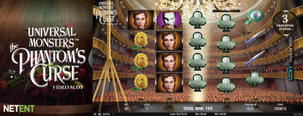 NetEnt The Phantom's Curse Online Slot Free Spins