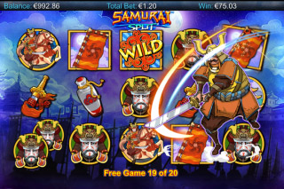 Samurai Split Mobile Slot Free Spins