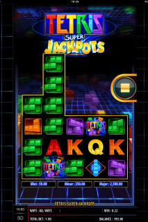 Tetris Super Jackpots Mobile Slot Game