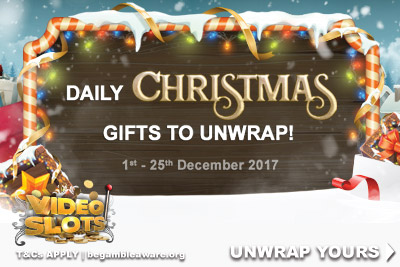 Video Slots Daily Christmas Bonuses To Unwrap
