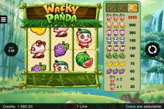 Wacky Panda Mobile Slot 3 Reeler