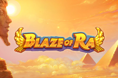 Blaze of Ra Mobile Slot Logo