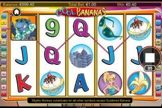 Cool Bananas Mobile Slot Base Game Win