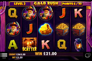 Gold Rush Mobile Slot Free Spins
