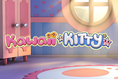 Kawaii Kitty Mobile Slot Logo