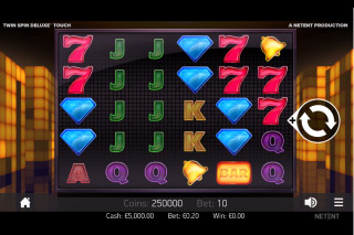 NetEnt Twin Spin Deluxe Mobile Slot Machine