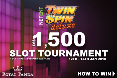 NetEnt Twin Spin Deluxe Slot Tournament At Royal Panda Casino